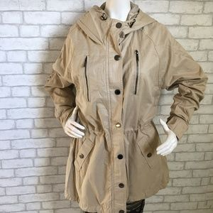 NWT khaki lightweight hooded jacket/rain coat-12